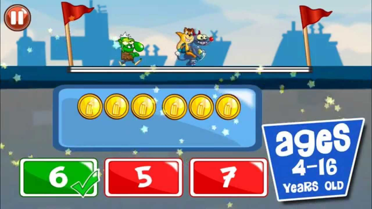 Monster Numbers Gameplay: Math learning games for kids - YouTube
