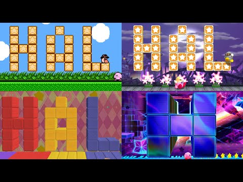 Evolution of Secret HAL Rooms in Kirby games (1993 - 2016)