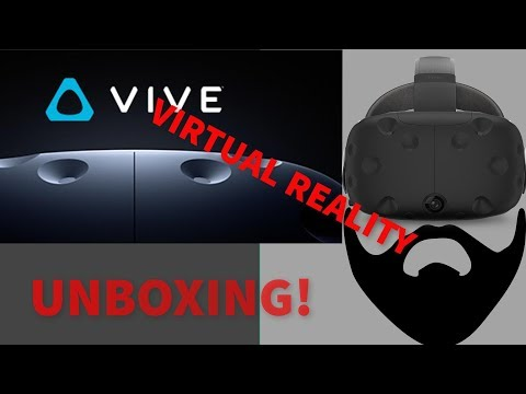 HTC VIVE Virtual Reality Set up! UNBOXING! What all is included? Let