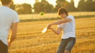 Backyard Cricket | Real Fruit Ninja | Smashing Quinces In Slowmotion At Sunset