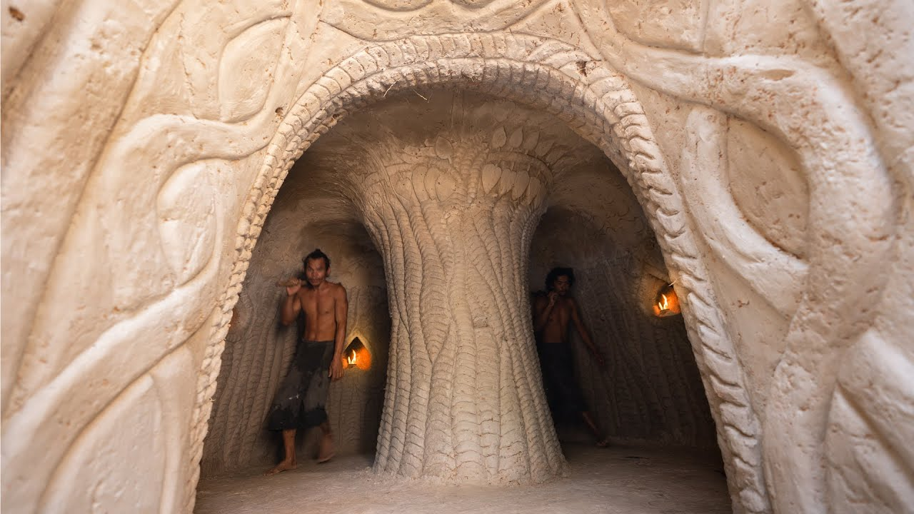 Build Secret Underground Tunnel Temple to Live Off Grid