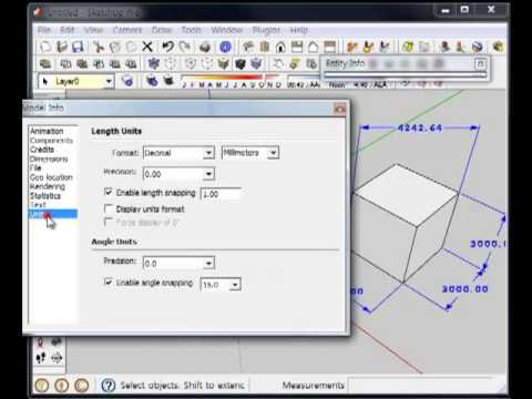 how to use dimension tool in sketchup