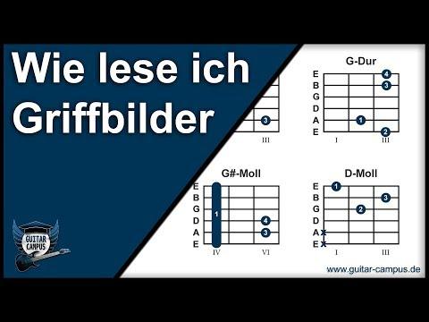 Wie lese ich Griffbilder (Akkord-Diagramme)  ► Gitarre lernen