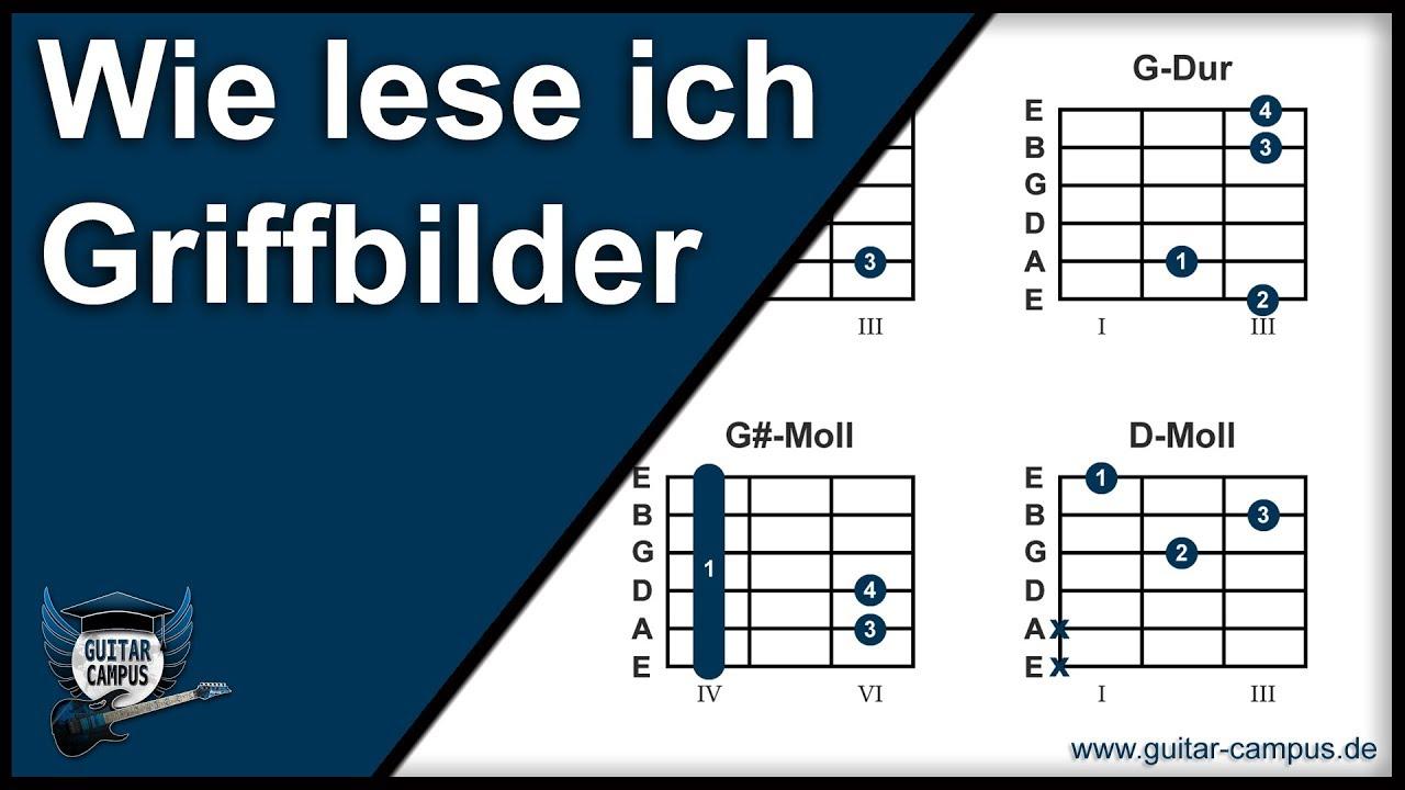 Wie lese ich Griffbilder (Akkord-Diagramme) ▻ Gitarre lernen - YouTube