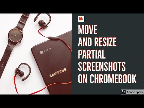 Move and Resize Partial Screenshots on Chromebook