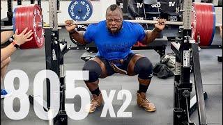 805 Lbs x 2 (365 Kg) Raw Squat
