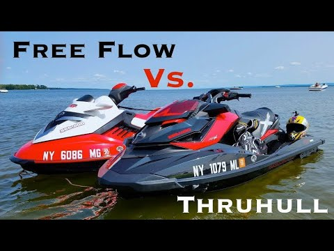 Seadoo Free Flow exhaust vs. Thruhull - Spark in sport mode