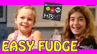 Two-ingredient Chocolate Fudge - Kids Cooking From Mrs. Happyhomemaker Blog!