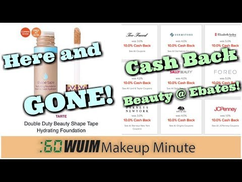 Tarte Shape Tape FOUNDATION Disappearing Act! TONS of Cash Back Deals at Ebates! | Makeup MInute