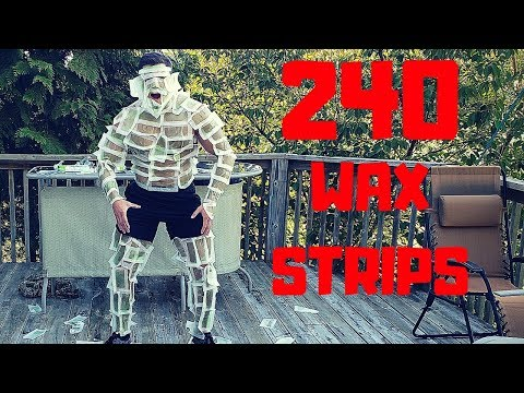 Ripping 240 WAX STRIPS off my Body | Bodybuilder VS Extreme Hair Removal Fail