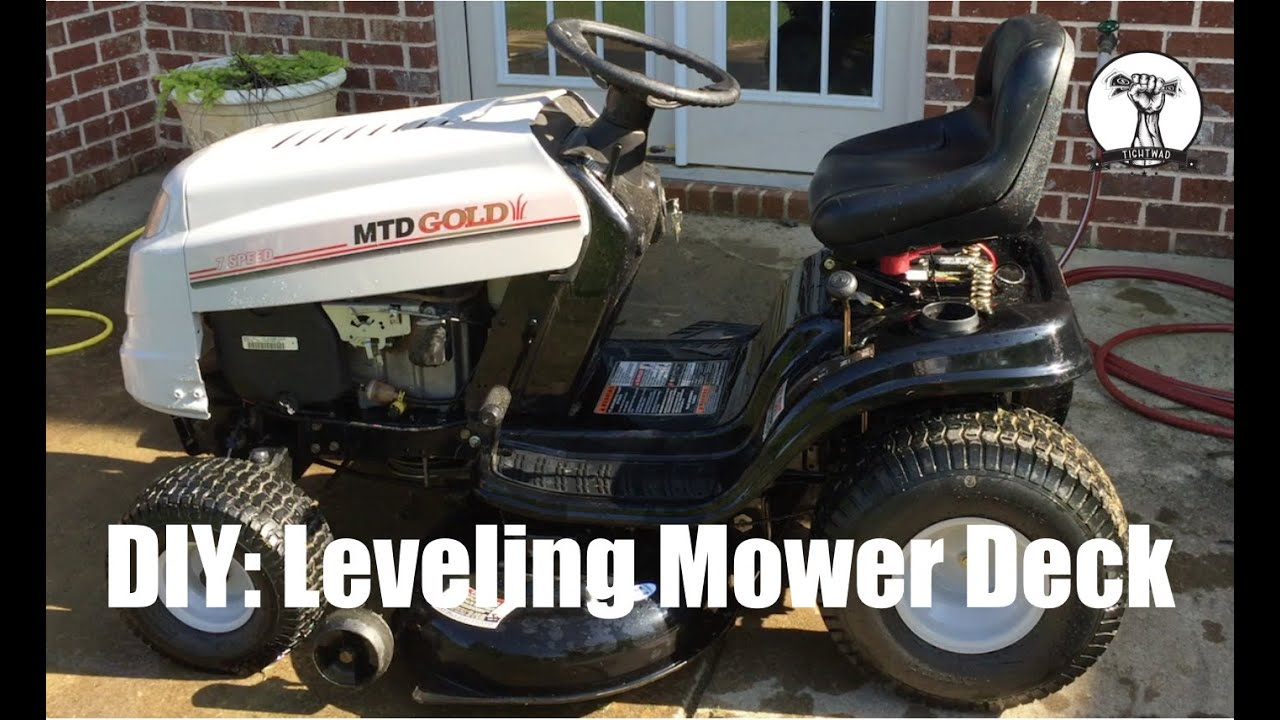 diy how to level the deck on a mtd lawn mower bolens toro yard machines [ 1280 x 720 Pixel ]
