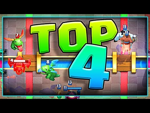 What are the TOP 4 DECKS in Clash Royale!?