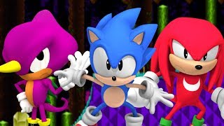 Sonic Friction (Sonic Fan Game)   Omelette & Mighty Team Up!