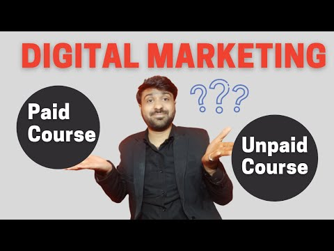 Digital Marketing course | Paid Or Free | Which is best | digital marketing certificate