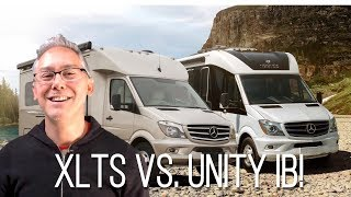 Pleasure-way Plateau XLTS vs Leisure Travel Vans Unity Island Bed | Comparison Review