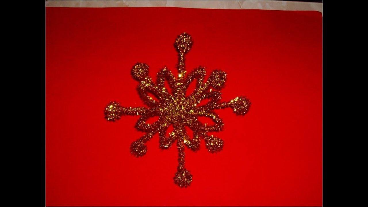 Manualidades navide as estrella copo de nieve colgante - Nieve para arbol de navidad ...