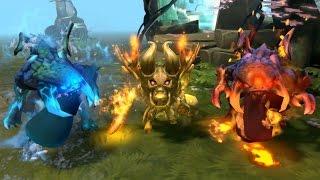 Ice Baby Roshan, Lava Baby Roshan, & Golden Doomling - Dota 2 Couriers 1080p FULLHD