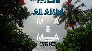Matoma & Becky Hill - False Alarm (Lyrics)