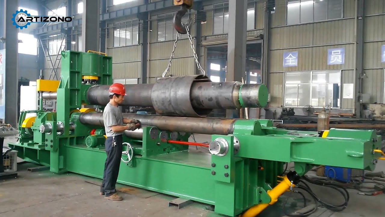 3 Roll Bending Machine (Working Principle and Rolling