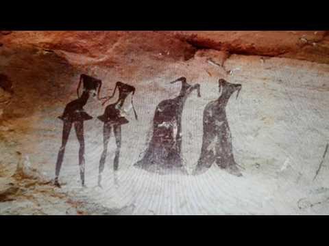 Tassili n'Ajjer Neolithic Cave Paintings in Algeria