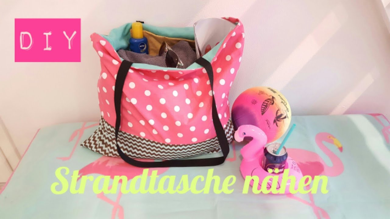 diy strandtasche beach bag selber n hen diy kajuete youtube. Black Bedroom Furniture Sets. Home Design Ideas