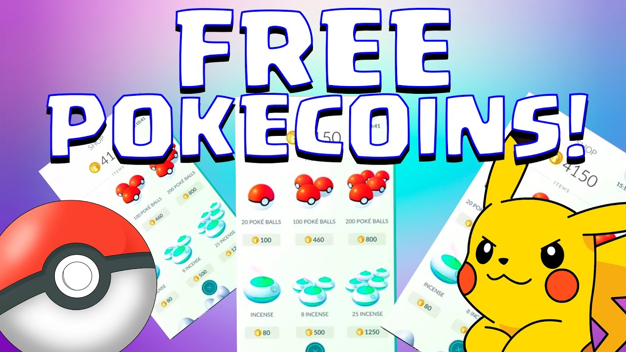 FREE UNLIMITED POKECOINS :: POKEMON GO :: MORE POKE BALLS , ITEM STORAGE ,  LUCKY EGG AND INCENSE