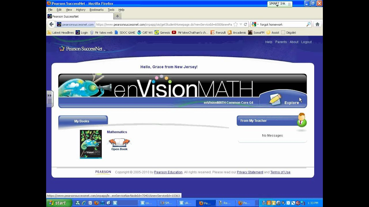 Find enVisionMATH Workbook Pages Online - YouTube