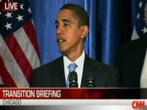 President-elect Barack Obama Calls On Americans