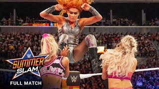 FULL MATCH: Carmella vs. Flair vs. Lynch - SmackDown Women's Title Match: SummerSlam 2018