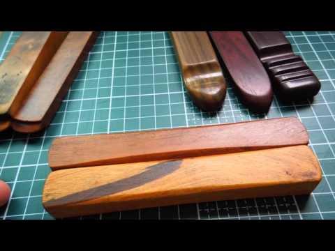 Wooden Leather Slickers & Folders