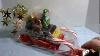 Diy~ Make A Candy Sleigh! Inexpensive And Super Cute!