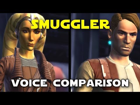 Star Wars: The Old Republic Smuggler's Voice Comparison