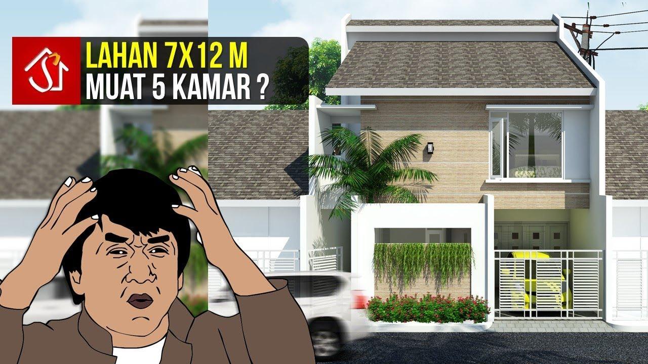 Simak Desain Rumah 2 Lantai 5 Kamar Tidur Di Lahan 7x12 M Youtube