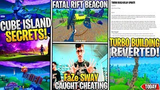 *NEW* Fortnite: CUBE ISLAND this Week + SECRETS, Turbo Build Revert, FaZe Sway CHEATING, & BEACON!
