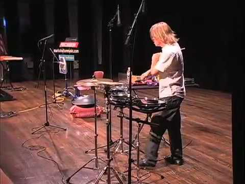 Percussionist Mark Shelton at the Allen Public Library