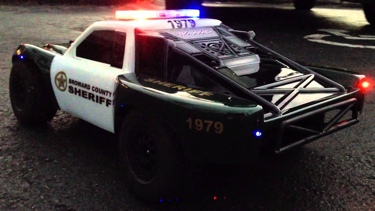 Custom Police Traxxas Slash With Siren Youtube