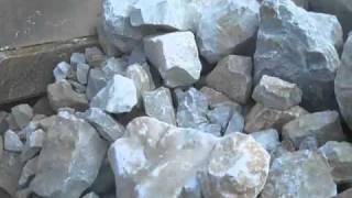 Fintec 1107 jaw crusher crushing limestone in Alabama