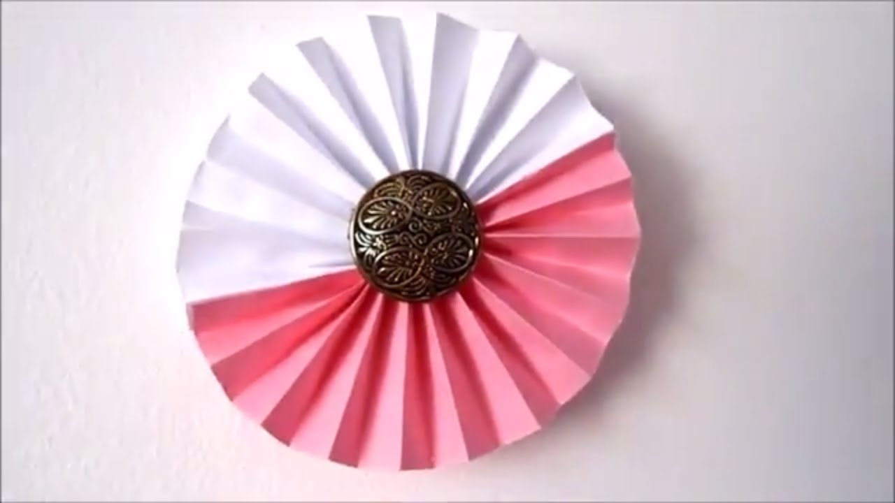 Room Decor Ideas How To Make Paper Rosettes Flowers 5