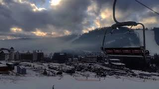 Врываемся в Буковель на лыжах Первая катка в жизни Горнолыжный курорт