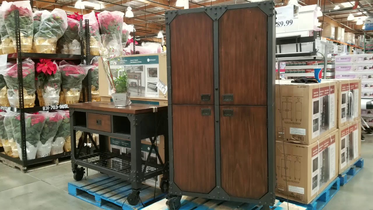 Garage Cabinets At Costco Costco Whalen 72 In Industrial Wood Metal Cabinet 289