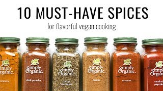MUST-HAVE SPICES FOR VEGAN COOKING | an inside look at my spice cabinet