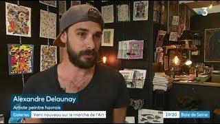 """Reportage """"Vent nouveau sur le marché de l'Art"""" France 3 Baie de Seine - Le Havre - Juin 2018"""