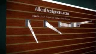 Slatwall 12 Inch Adjustable Shelf Brackets .avi
