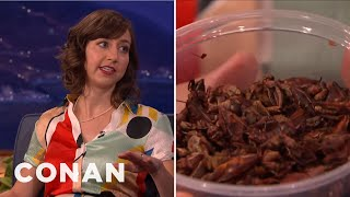"Kristen Schaal Ate Crickets For ""Last Man On Earth""  - CONAN on TBS"