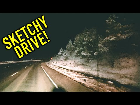 DRIVING THROUGH THE ROCKY MOUNTAINS AT NIGHT   18HR DRIVE