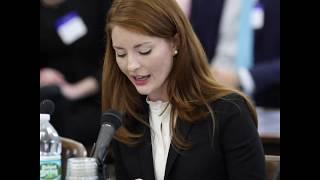 Katie Brennan testifies before the N.J. select oversight committee