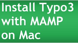 Install Typo3 with MAMP