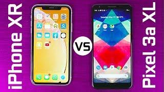 Google Pixel 3a XL vs iPhone XR