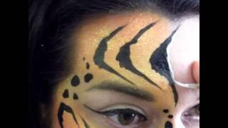 Tiger eye makeup/face painting design Thumbnail
