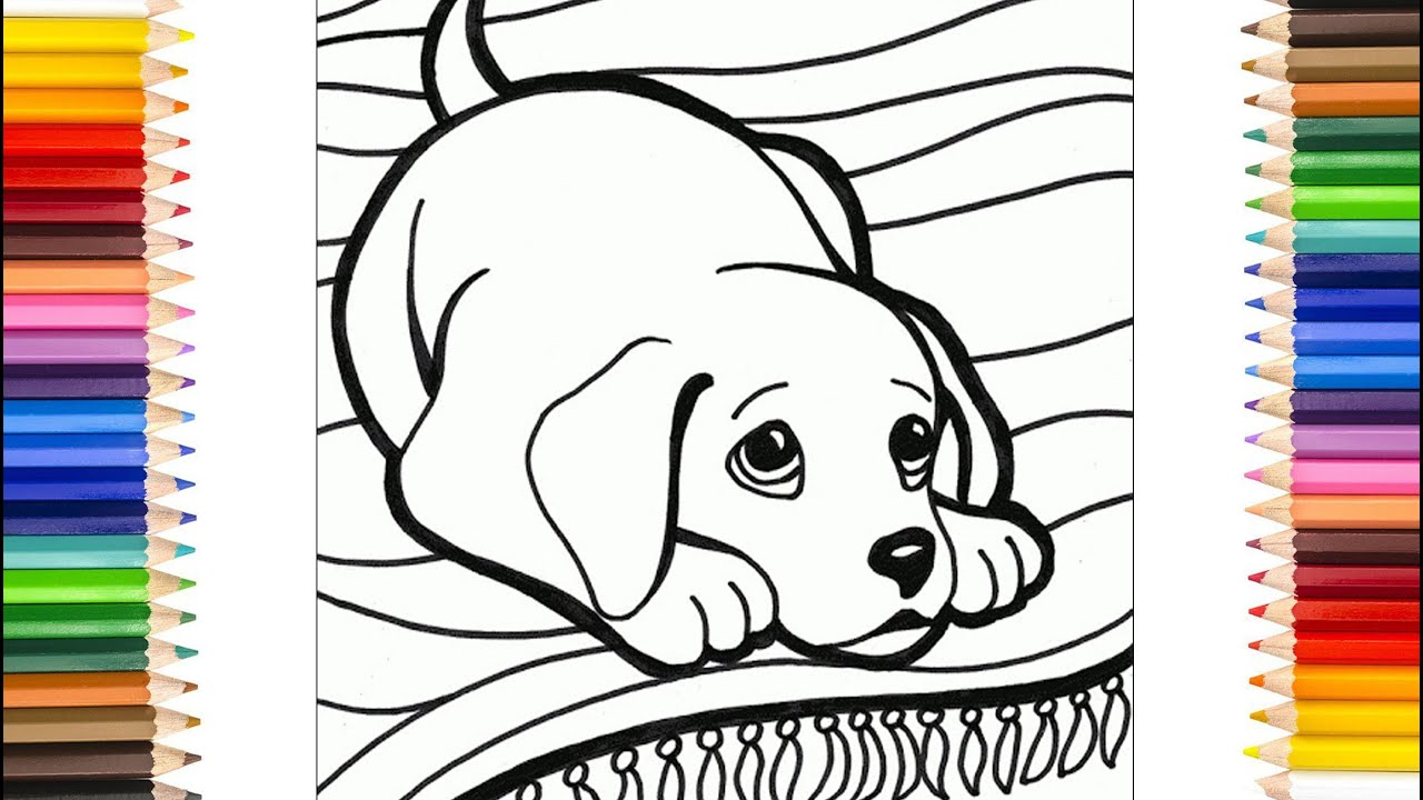 Ausmalbilder Hunde - Hundefärbung - Hunde malen für Anfänger
